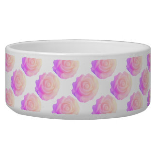 Ombre Pink Frosting Rose Change Background Color Bowl