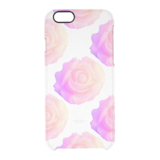 Ombre Pink Frosting Rose Change Background Color Clear iPhone 6/6S Case