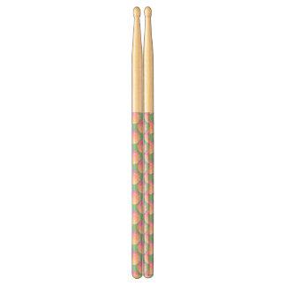Ombre Pink Frosting Rose Change Background Color Drum Sticks