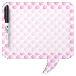 Ombre Pink Frosting Rose Change Background Color Dry-Erase Board