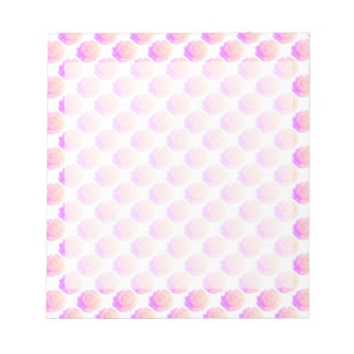 Ombre Pink Frosting Rose Change Background Color Notepad
