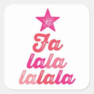 Ombre Pink Modern Falalalala Fun Holiday Sticker