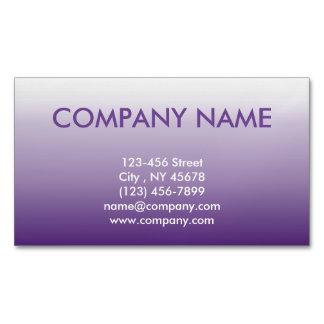 ombre púrpura abstracto femenino elegante moderno tarjetas de visita magnéticas (paquete de 25)