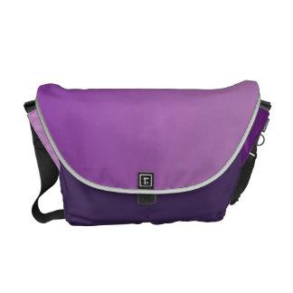 Ombre púrpura bolsa messenger