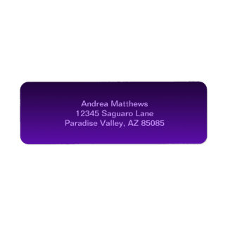 Ombre púrpura etiqueta de remite