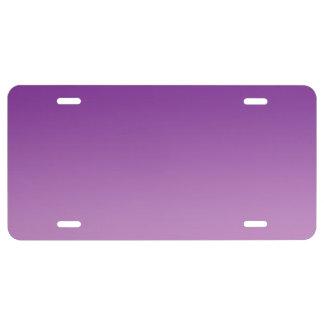 """""""Ombre púrpura"""" Placa De Matrícula"""