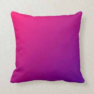 Ombre púrpura rosado almohadas