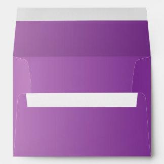 Ombre púrpura sobres