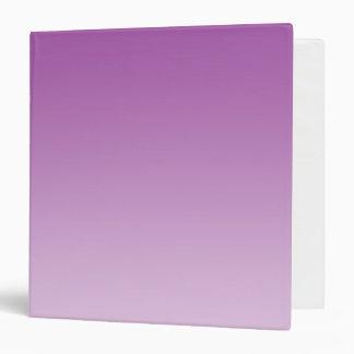 """Ombre púrpura suave carpeta 1 1/2"""""""