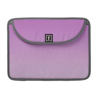 Ombre púrpura suave fundas macbook pro
