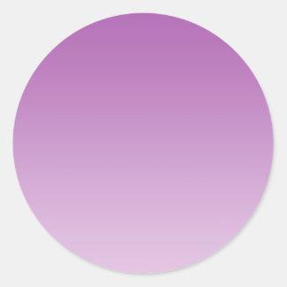 Ombre púrpura suave pegatina redonda