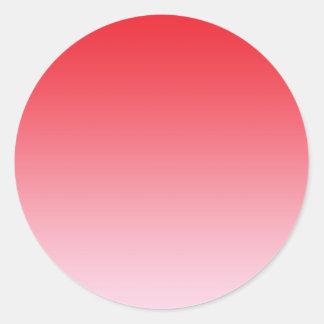 Ombre rojo pegatina redonda
