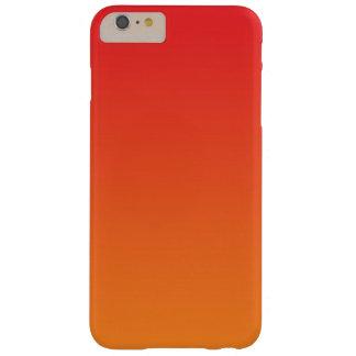 Ombre rojo y anaranjado funda de iPhone 6 plus barely there