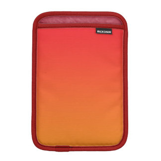 Ombre rojo y anaranjado funda iPad mini