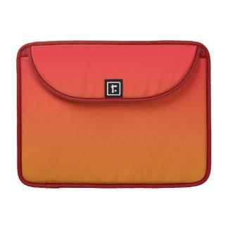 Ombre rojo y anaranjado funda macbook pro