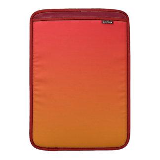 Ombre rojo y anaranjado fundas MacBook