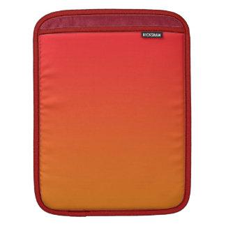 Ombre rojo y anaranjado fundas para iPads