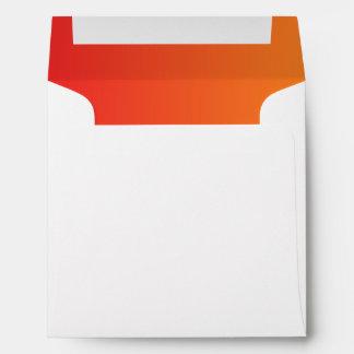 Ombre rojo y anaranjado sobres