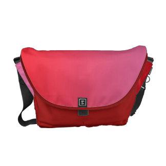 Ombre rojo y rosado bolsas messenger