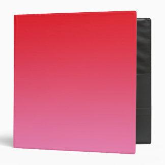 """Ombre rojo y rosado carpeta 1 1/2"""""""