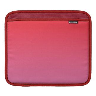 Ombre rojo y rosado funda para iPads