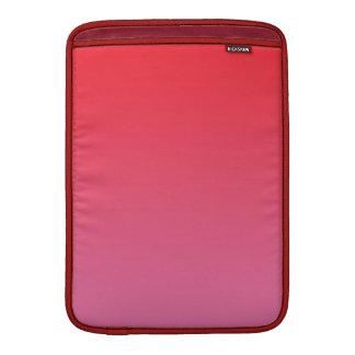 Ombre rojo y rosado fundas para macbook air