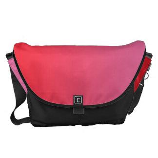 Ombre rojo y rosado grande bolsas de mensajería