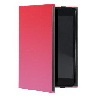 Ombre rojo y rosado iPad mini carcasas