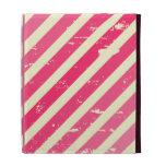 Ombre rosado agrietado raya el folio del iPad