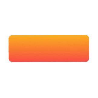 Ombre rosado amarillo-naranja etiquetas de remite