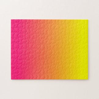 Ombre rosado amarillo-naranja puzzles