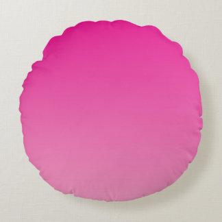 Ombre rosado cojín redondo