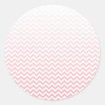 Ombre rosado descolorado Chevron Pegatina