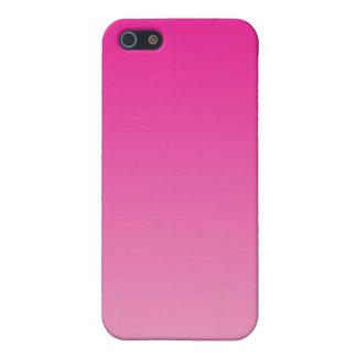 Ombre rosado iPhone 5 fundas