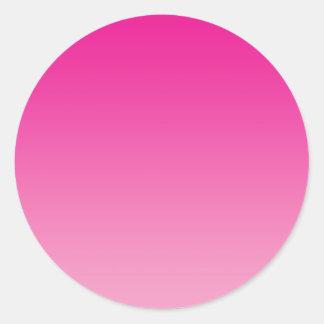 Ombre rosado pegatina redonda