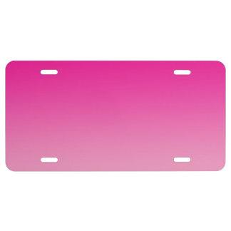 """""""Ombre rosado"""" Placa De Matrícula"""
