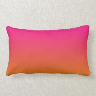 """""""Ombre rosado y anaranjado"""" Cojín"""