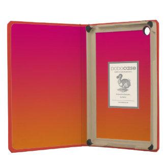 Ombre rosado y anaranjado