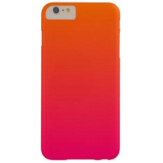 Ombre rosado y anaranjado funda para iPhone 6 plus barely there