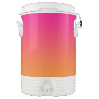 Ombre rosado y anaranjado vaso enfriador igloo