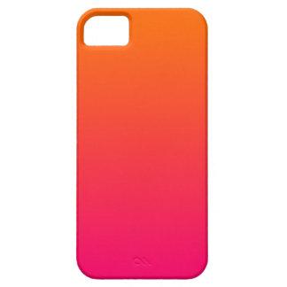 Ombre rosado y anaranjado iPhone 5 carcasa