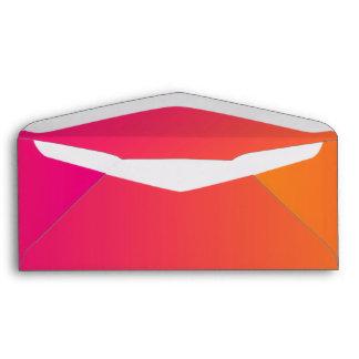 Ombre rosado y anaranjado sobres