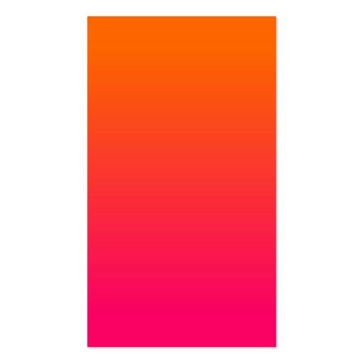 Ombre rosado y anaranjado tarjetas de visita