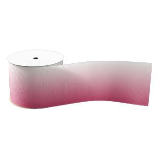 Ombre rosado y blanco lazo de tela gruesa