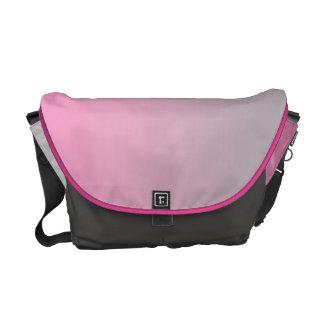 Ombre rosado y gris bolsa de mensajeria