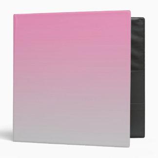 """Ombre rosado y gris carpeta 1 1/2"""""""