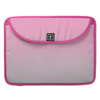 Ombre rosado y gris fundas para macbooks