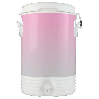 Ombre rosado y gris enfriador de bebida igloo