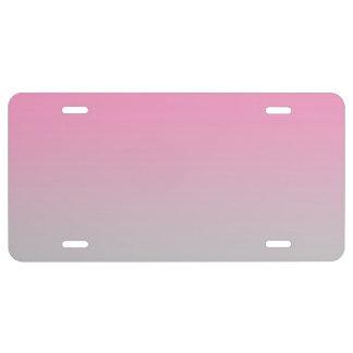 """""""Ombre rosado y gris"""" Placa De Matrícula"""
