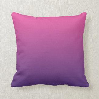 """""""Ombre rosado y púrpura"""" Cojin"""